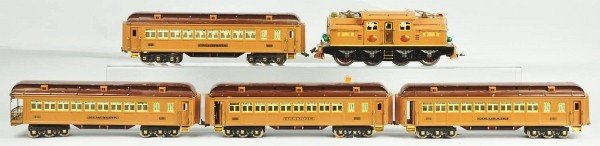 1178: Lionel Standard Gauge Brown Train State Set.