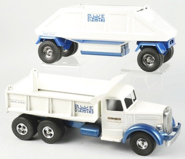 1441: Lot of 2: Fred Thompson Blue Diamond Trucks Toys.
