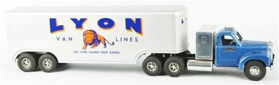 1442 Pressed Steel Lyon Van Lines Work Truck Toy