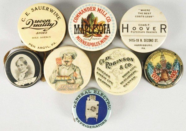 2: Lot of 8: Celluloid Advertising Tape Measures.