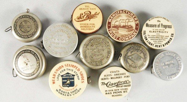 4: Lot of 11: Early Advertising Tape Measures.