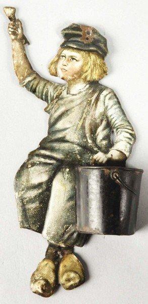 24: Embossed Tin Dutch Boy Paints Match Holder.