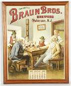 210 1903 Braun Brothers Brewery Advertising Calendar