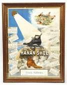 613 Framed 1899 Hanan Shoe Advertising Calendar