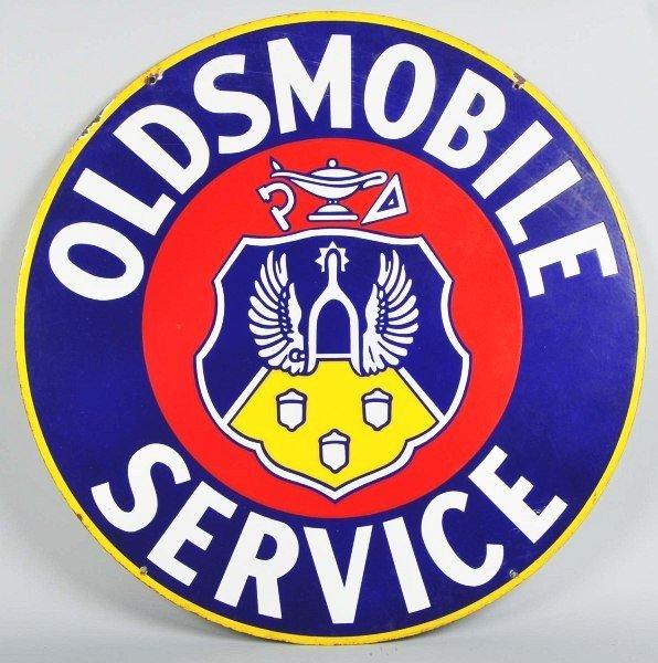 789: Porcelain Oldsmobile Service 2-Sided Sign.