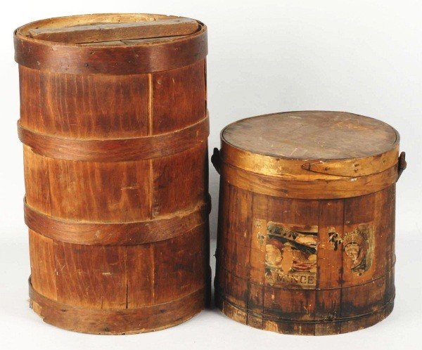 6: Lot of 2: Wooden Advertising Crates & Boxes.
