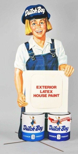 7: Cardboard Dutch Boy Paint Die-Cut Sign.