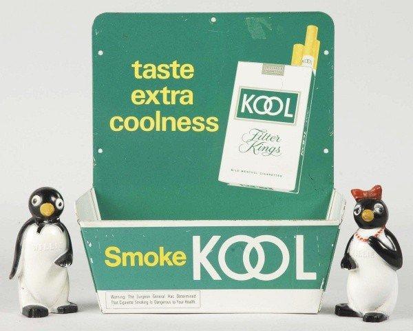 14: Tin Kool Cigarettes Display.