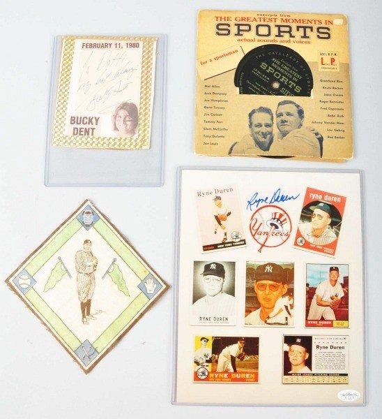 18: Lot of 4: Baseball Items.