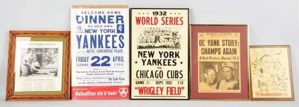 19: Lot of 5: New York Yankees Display Items.
