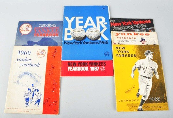 20: Lot of 7: 1960s Yankees Yearbooks.
