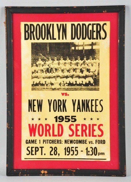 22: Brooklyn Dodgers vs. New York Yankees Poster.