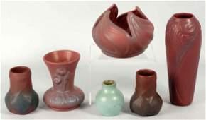 409: Lot of 6: Various Van Briggle Vases.