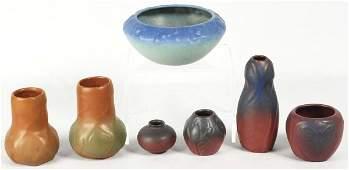 412: Lot of 7: Vintage Van Briggle Pottery Vases.