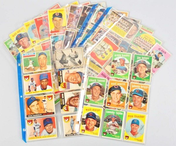 1: Group Lot of Chicago Cubs Baseball Cards.