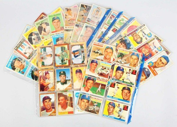 7: Group Lot of Senators & Red Sox Baseball Cards.