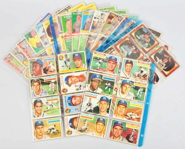 13: Group Lot of Milwaukee Braves Baseball Cards.