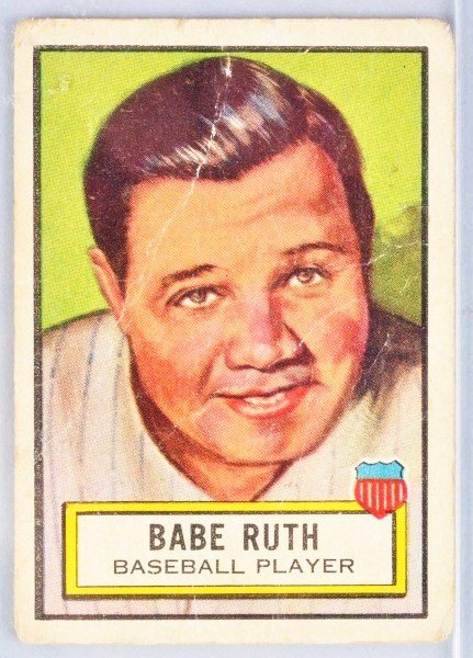 18: Babe Ruth Look 'n See Baseball Card.