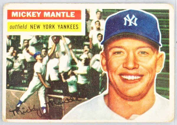 22: 1954 Topps Mickey Mantle Card.