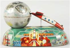 192 Tin Litho Missile Savings Mechanical Bank