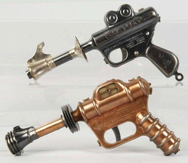 Lot of 2: Buck Rogers 25th Century Pistol Toys.