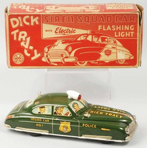 643: Tin Litho Marx Dick Tracy Squad Car Wind-Up Toy.