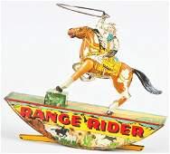 667: Tin Litho Marx Range Rider Wind-Up Toy.