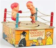 674: Tin Litho Marx Knockout Champs Wind-Up Toy.