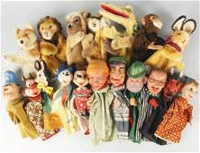712: Lot of 22: Miscellaneous Toy Hand Puppets.