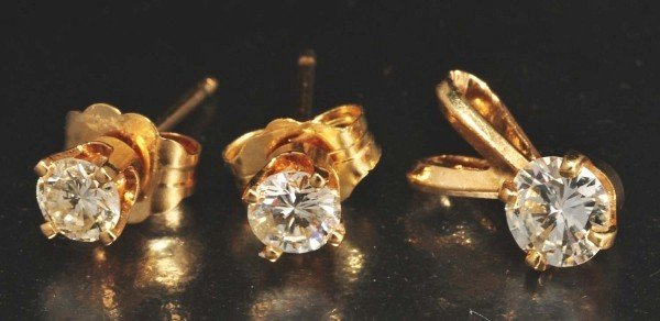 12: Lot of 2: 14K Y. Gold Jewelry Pieces.