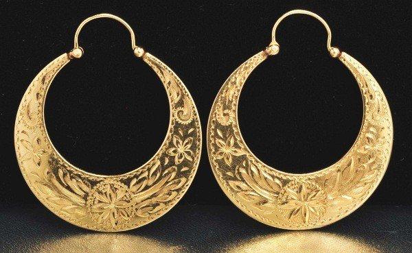 15: Pair of 14K Y. Gold Earrings.