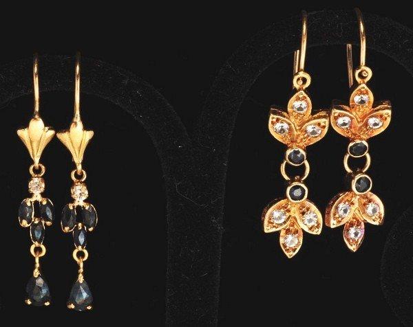 16: Lot of 3: Pair of 14K Y. Gold Earrings.