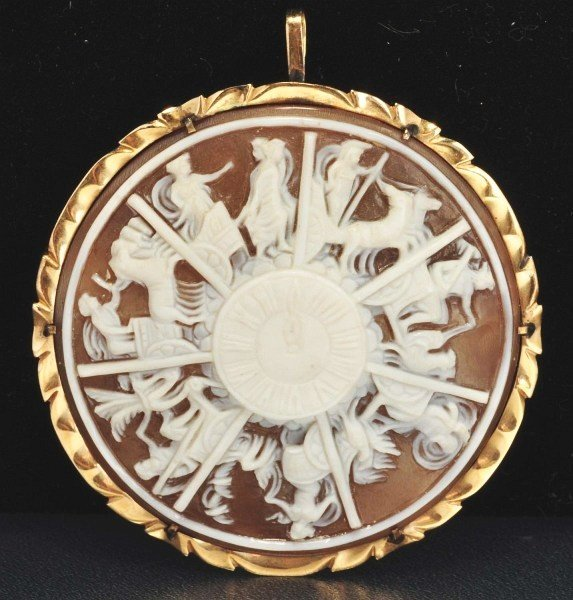 19: 14K Y. Gold Carved Shell Cameo.