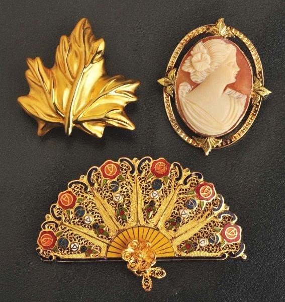 22: Lot of 3: Y. Gold Pins.