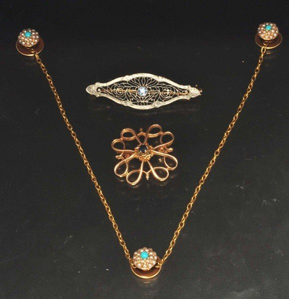 23: Lot of 3: Gold Jewelry Pieces.