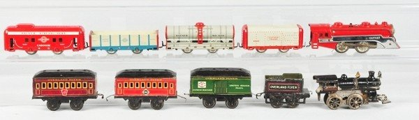 1: Miscellaneous Lot of Pre-War Tinplate Trains.