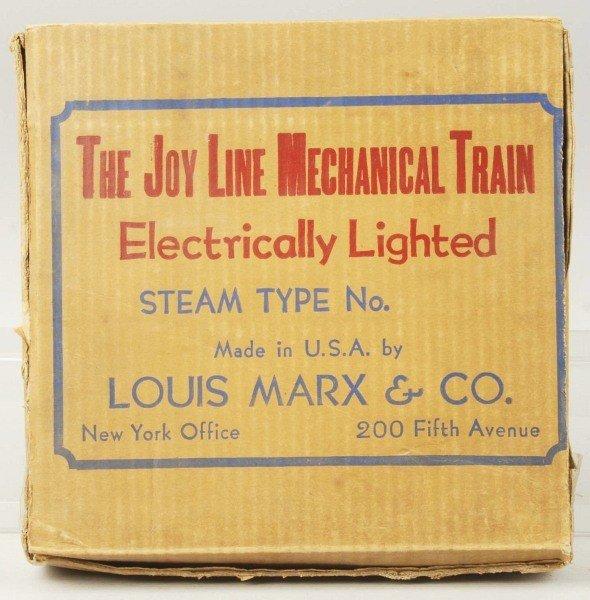 4: Tinplate Joy Line Wind-Up Passenger Train Set.