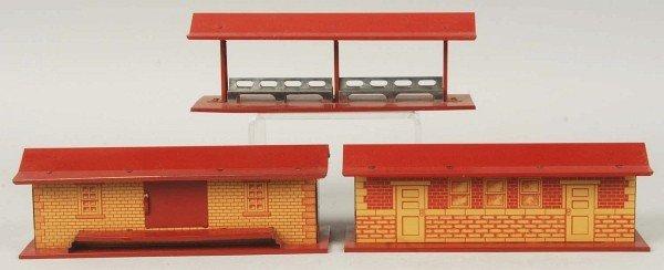 5: Tin Litho Hafner Double Station Train Accessory.