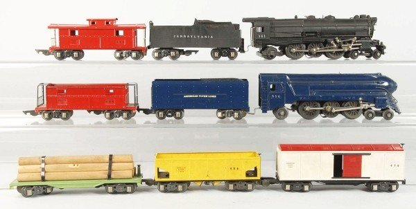 9: Lot of American Flyer S-Gauge Freight Train Sets.