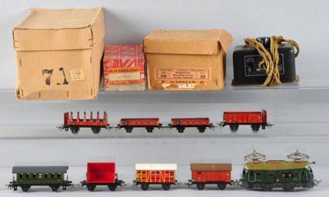 200: Marklin HO Freight & Passenger Train Set.