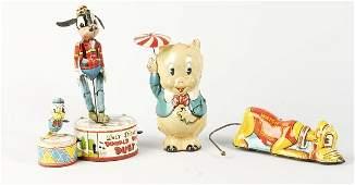 327 Lot of 3 Tin Marx Comic Character WindUp Toys
