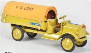 872 Pressed Steel Keystone Packard US Army Truck Toy