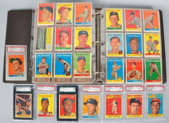 964: 1958 Topps Baseball Card Set.