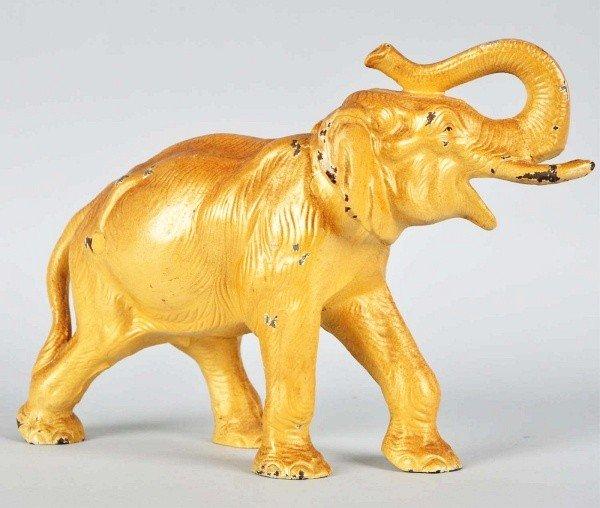 1012: Cast Iron Elephant Doorstop.