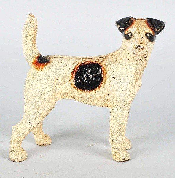 1017: Cast Iron Standing Fox Terrier Doorstop.