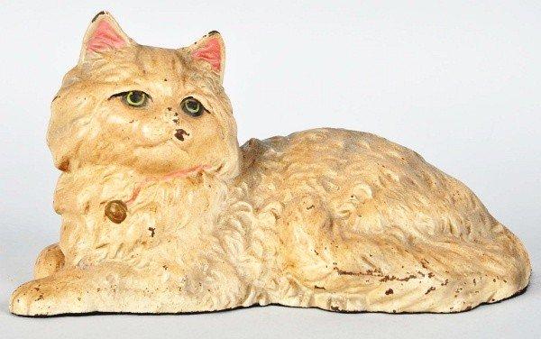 1022: Cast Iron Lying Down Cat Doorstop.