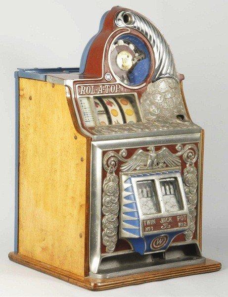 1314: Watling Rol-A-Top 10-Cent Coin-Op Slot Machine.