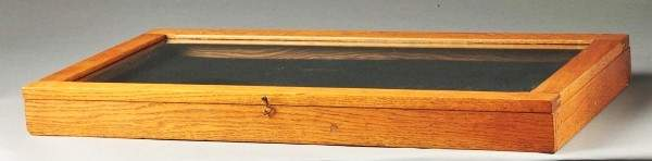 1324 Wooden Display Case with Glass Front