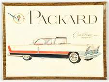 1350 Celluloid over Tin Packard Easel Back Sign