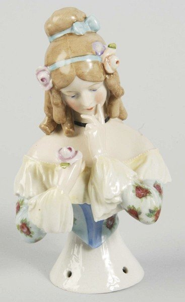 "4: Goebel ""Jenny Lind"" German Porcelain Half Doll."